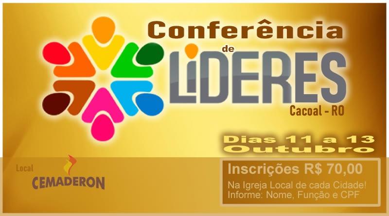 Material de estudo- Conferência de Líderes em Cacoal 11 a 13 de outubro