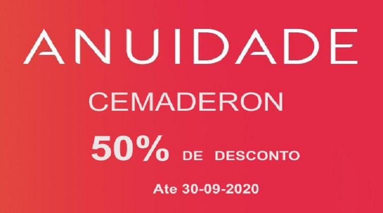 ATENÇÃO!! desconto das anuidades da Cemaderon vai até dia 30-09-2020