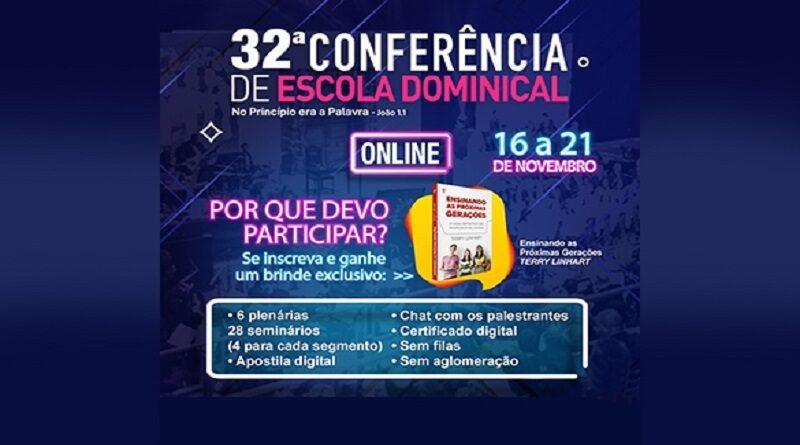 CPAD- vem ai!! a 32ª Conferência de Escola Dominical